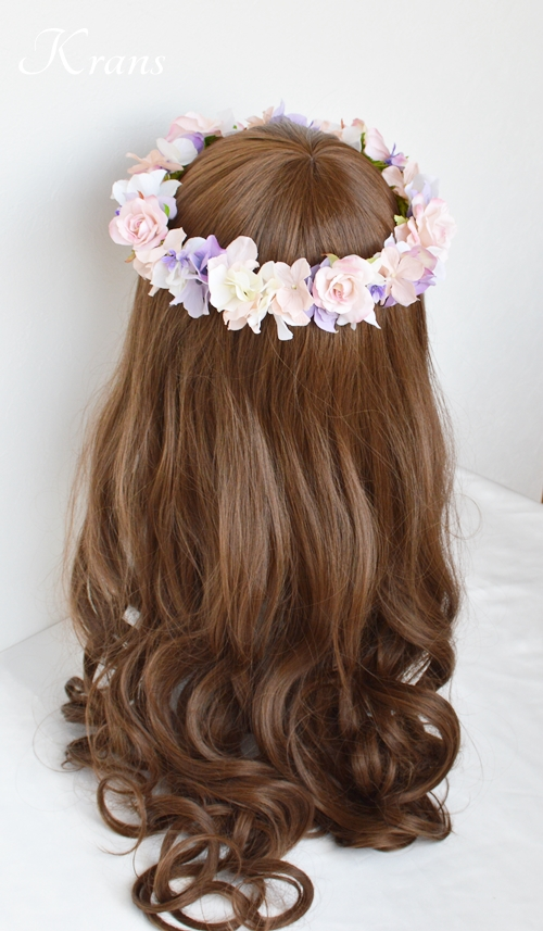 花冠ピンクローズ結婚式9