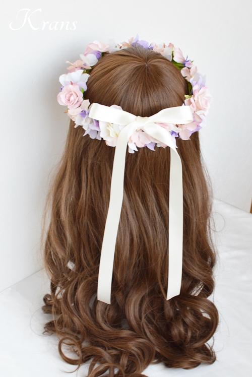 花冠ピンクローズ結婚式10