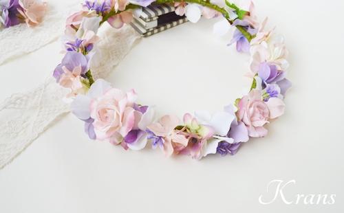 花冠ピンクローズ結婚式5