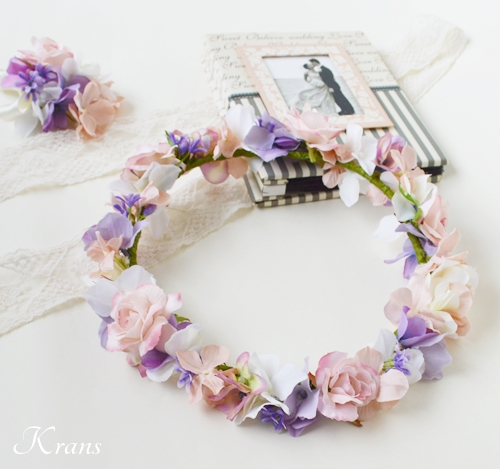 花冠ピンクローズ結婚式4