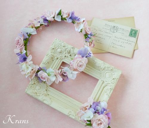 花冠ピンクローズ結婚式2