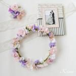 花冠ピンクローズ結婚式