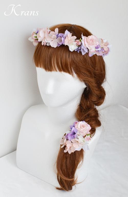 花冠ピンクローズ結婚式11