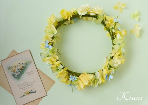 黄色い花冠結婚式イエローブルー9