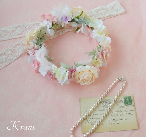 羽の花冠ピンク結婚式10
