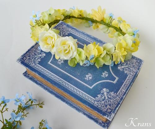 黄色い花冠結婚式イエローブルー3