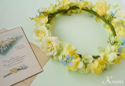 黄色い花冠結婚式イエローブルー10