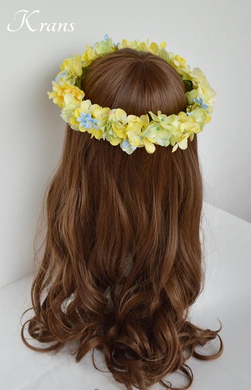 黄色い花冠結婚式イエローブルー7