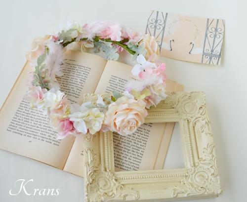 羽の花冠ピンク結婚式3