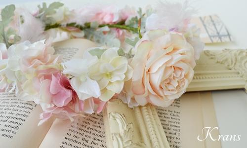 羽の花冠ピンク結婚式5