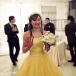 【幸せのバトン:Photo gallery】 T様(ホワイト&イエローウェディング花冠)