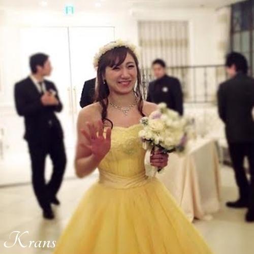 花冠黄色結婚式1