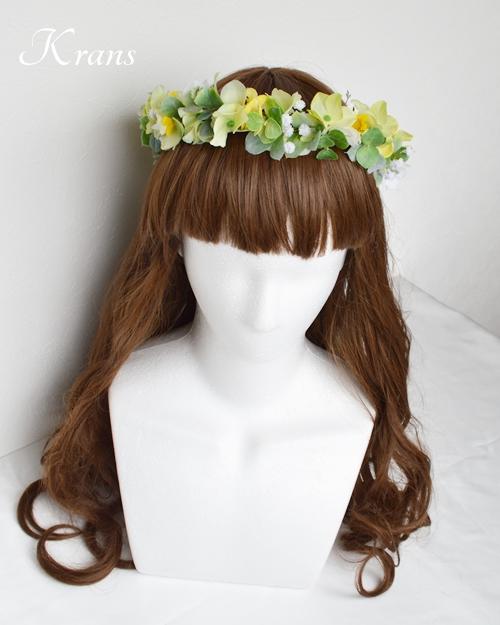 花冠ナチュラルグリーン結婚式用3