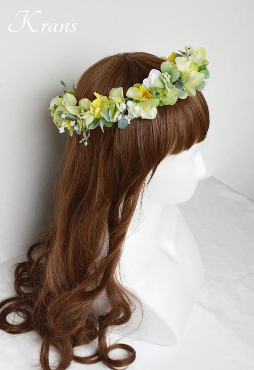 花冠ナチュラルグリーン結婚式用5