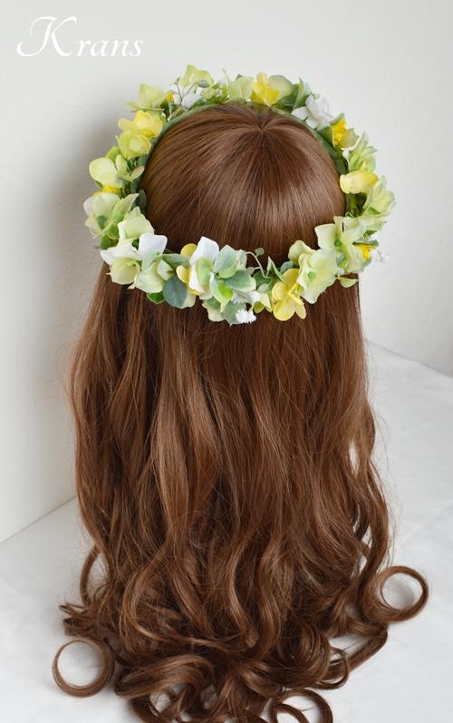 花冠ナチュラルグリーン結婚式用6