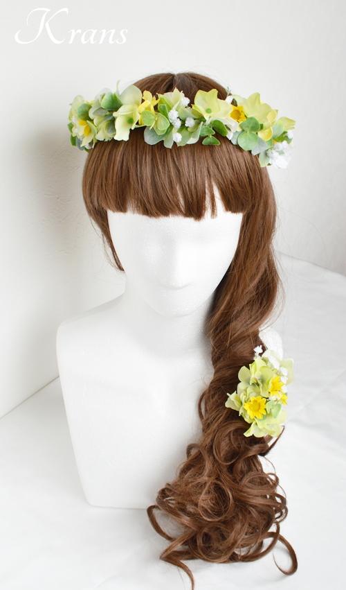 花冠ナチュラルグリーン結婚式用8