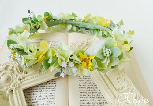 花冠ナチュラルグリーン結婚式用1
