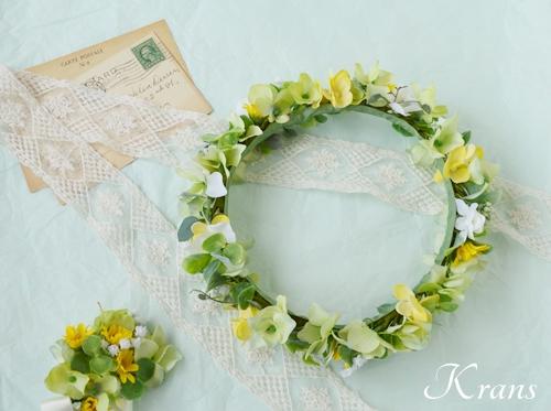 花冠ナチュラルグリーン結婚式用10