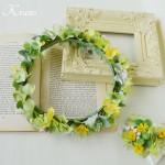 花冠ナチュラルグリーン結婚式用