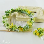 花冠ナチュラルグリーン結婚式用2