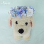 犬用の花冠リングドッグ1