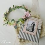 花冠ナチュラルピンク結婚式