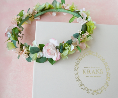 花冠ナチュラルピンク結婚式2