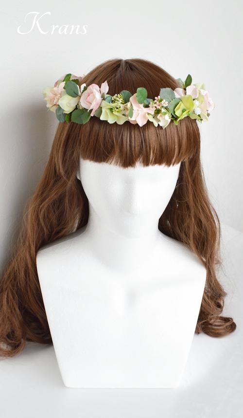 花冠ナチュラルピンク結婚式4