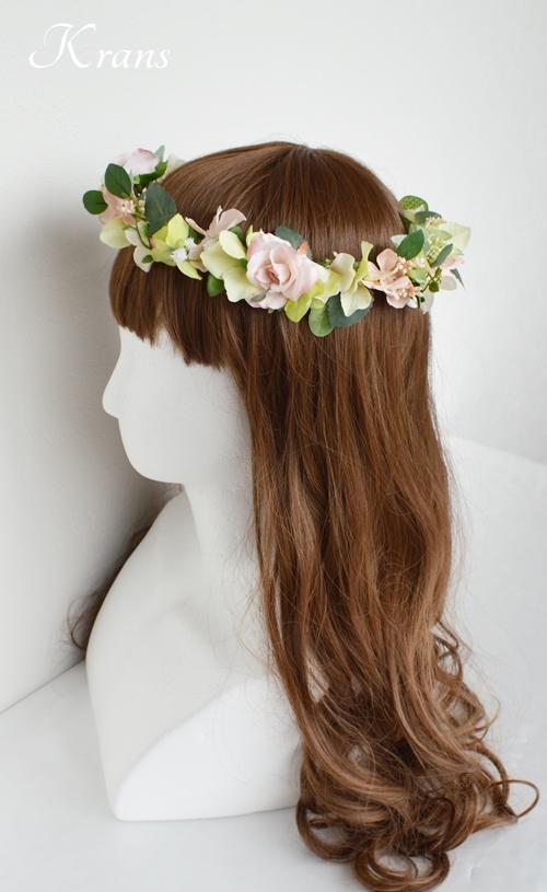 花冠ナチュラルピンク結婚式5