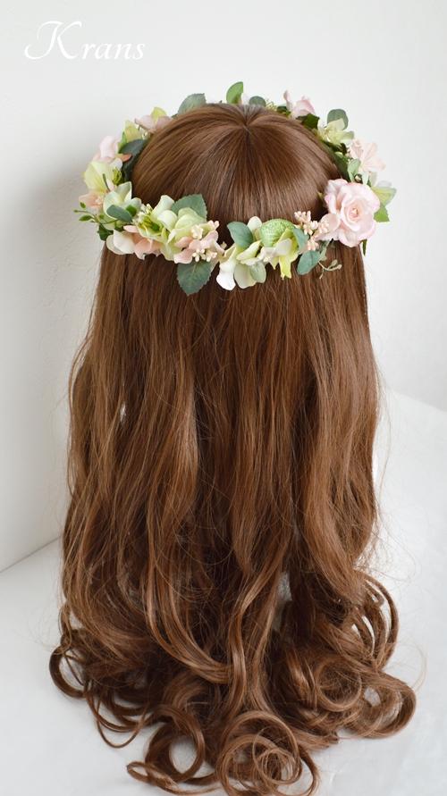 花冠ナチュラルピンク結婚式6