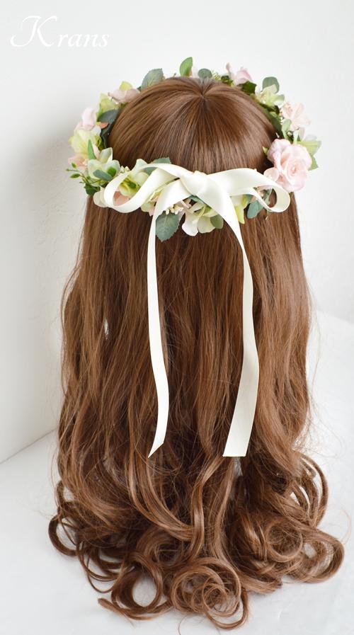 花冠ナチュラルピンク結婚式7