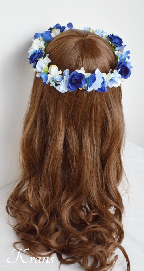 花冠ロイヤルブルーローズ結婚式5
