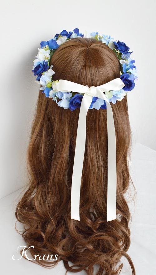花冠ロイヤルブルーローズ結婚式6
