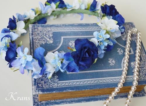 花冠ロイヤルブルーローズ結婚式2