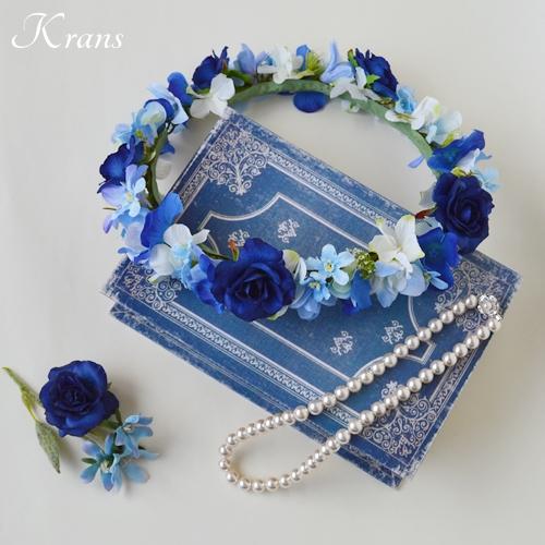 ロイヤルブルーローズの花冠