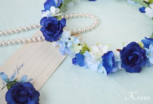 花冠ロイヤルブルーローズ結婚式9