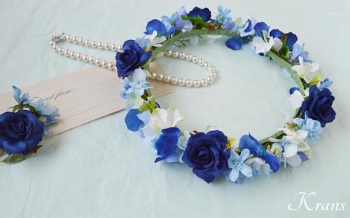 花冠ロイヤルブルーローズ結婚式8