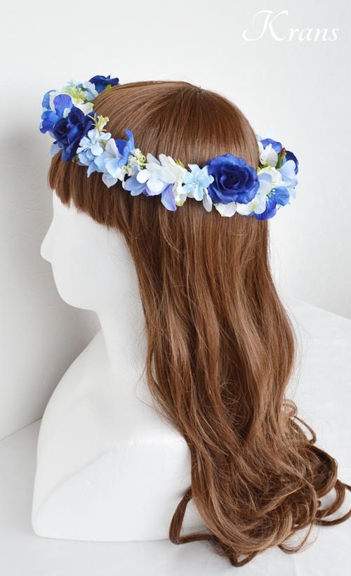 花冠ロイヤルブルーローズ結婚式4