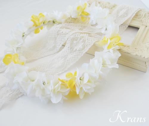 花冠黄色白あじさい結婚式5