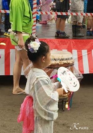 髪飾り夏祭りヘアアレンジ