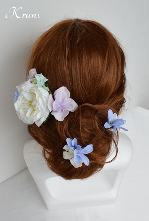 子供用髪飾りヘアアレンジ2