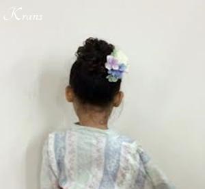 髪飾り子どもヘアアレンジ