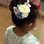 髪飾り幼稚園祭りヘアアレンジ