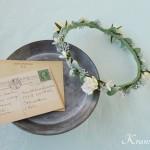 結婚式花冠華奢で可愛いナチュラル3