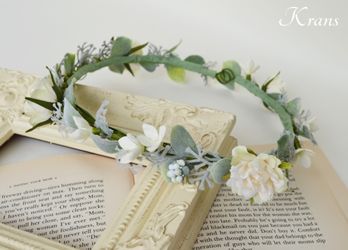 結婚式花冠華奢で可愛いナチュラル2