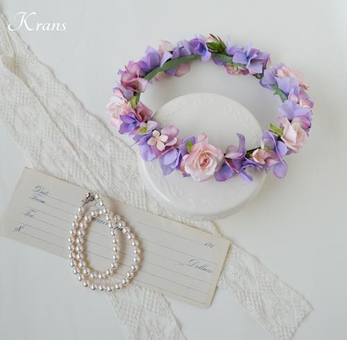 花冠結婚式パープルピンク6