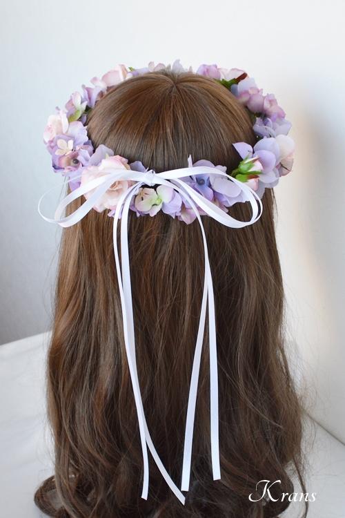 花冠結婚式パープルピンク5