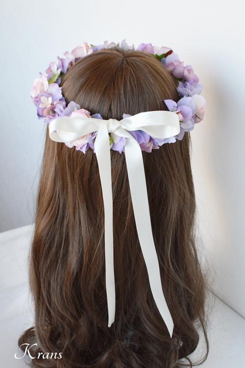 花冠結婚式パープルピンク4