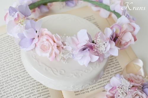 ピンクメリンダ花冠結婚式2