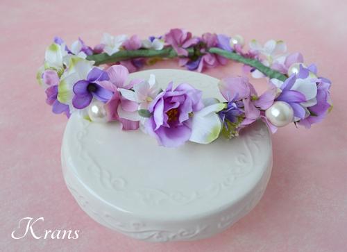 花冠結婚式パールピンクパープル2